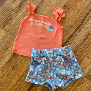 Gymboree beach outfit 3T